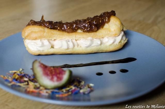 Eclair au foie gras et figue