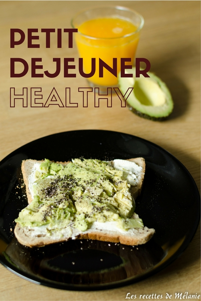 Petit dejeuner healthy: tartine à l'avocat